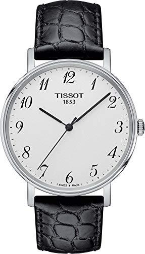 Tissot Unisex Erwachsene Analog Quarz Uhr mit Leder Armband T1094101603200