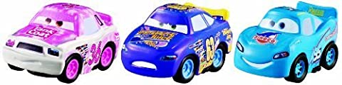 Cars Micro Drifters Tank Coat, Transberry Juice and Dinoco McQueen Vehicle 3-Pack by Mattel