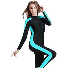 Modest Swimwear - Taucheranzug Damen Herren Mädchen UV Schutzkleidung Sunsuit Ganzkörperansicht Badeanzug Overall Watersport