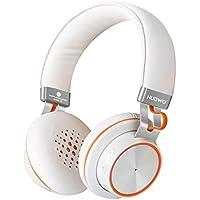 NUBWO S2 V4.1 Bluetooth kabellose On-Ear HiFi Stereo Kopfhörer mit Mikrofon für Handys, Tablets, Laptops & PC – Weiß