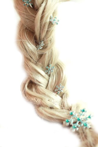 Die Eiskönigin Prinzessin Elsa Haarnadeln-Set, 1 Haarspange, 5 kleine (Kostüme Snow Girls Queen)