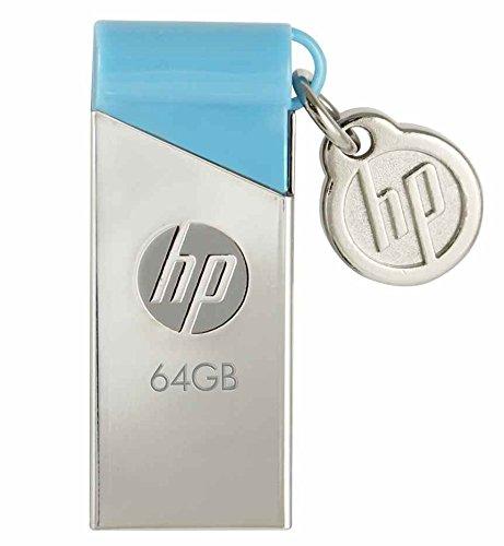 HP V215B USB 2.0 64GB Pen Drive (Silver & Blue)
