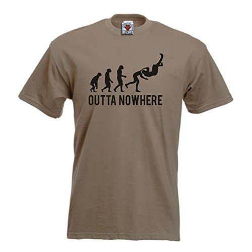 Bullshirt 's Herren 's Outta Nowhere T-Shirt, sand, L (Tee Heavyweight 100% Baumwolle)