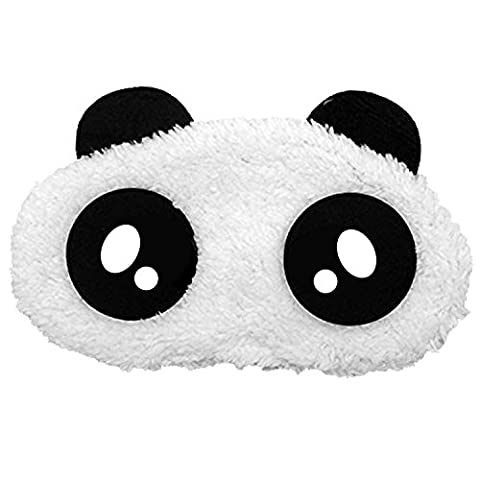 Cartoon Panda Cotton Eye Mask Cover Schatten Patch Augenbinde Nap Schlaf Reisen Rest Blinder Schlafen (Mal Di Testa Maschera)