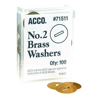 ACCO Brass Washers, 15/32