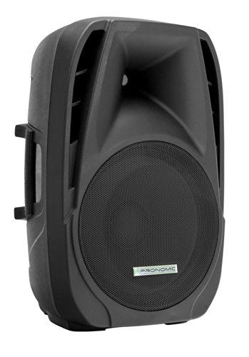 Pronomic PH15 Bühnen- und Konzertlautsprecher PA-Lautsprecher (passive ABS PA-Boxen, 15 Zoll, 38 cm, 350W, Rollen) schwarz (Subwoofer 15 Zoll-in-box)