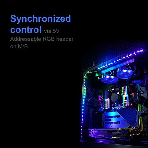 Extended Computer Magnetic LED Strip - 2PCS RGB LED Strip Light for