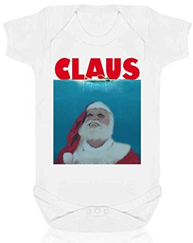 Bullshirt 's Claus Strampler weiß weiß 6-12 Monate (Mutter Claus Kostüm)