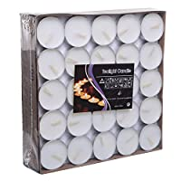 Home 100 Pieces Set Tea Light Candle, White