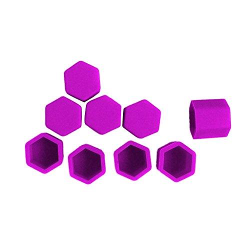 Paquet De 20 Voiture Pneu De La Roue à Vis Protéger Boulon Capuchon D'écrou Lug 17mm Purple