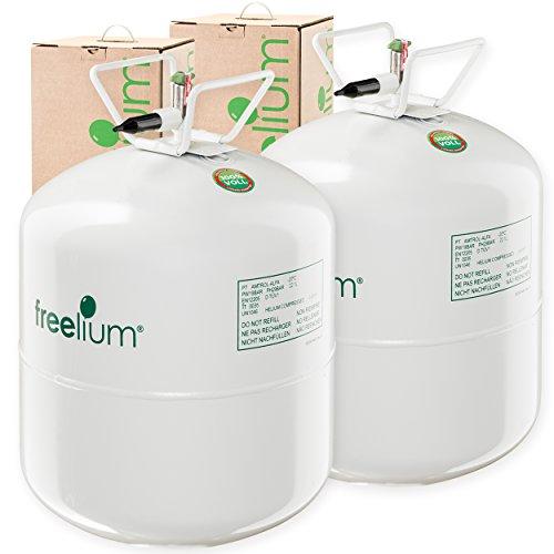 Hohe Reinheit Der Luft (freelium® go 410 Helium Ballongas DOPPELPACK für Luftballons: 840 LITER in der leichten To Go Flasche + 100x Ballonband mit Schnellverschluss gratis!)