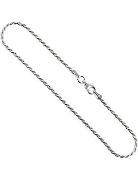 Unisex Seilkette Halsketten und Armbänder 925 Sterlingsilber,,1.5 mm Grössen 18-76 cm