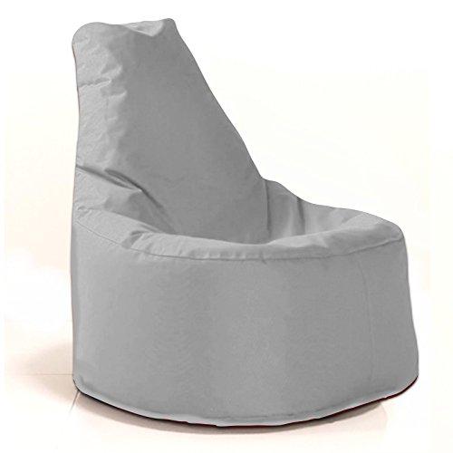 Sitzsack Sessel - für Kinder und Erwachsene - In & Outdoor Sitzsäcke Kissen Sofa Hocker Sitzkissen Bodenkissen mit Styropor Füllung - verschiedene Farben - Bean Bag Sitzsäcke Möbel Kissen (Grau/Hellgrau)