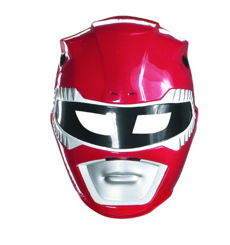 Maske Power Rangers rot für Kinder