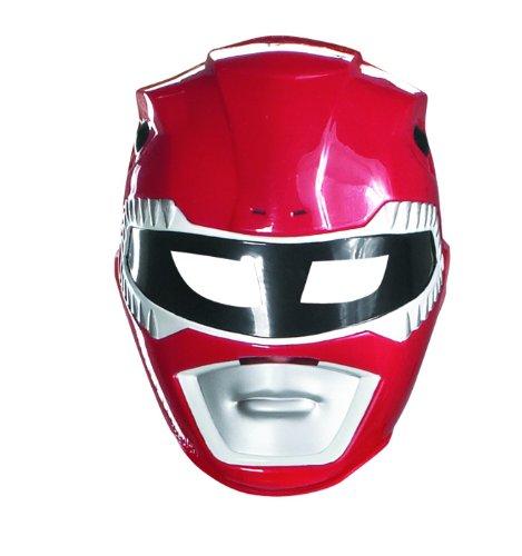 Maske Power Rangers rot für Kinder (Erwachsene Roter Ranger Kostüme)