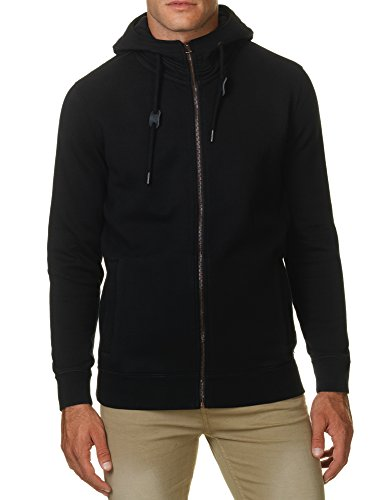 Garcia Jeans Men's Paolo Men's Black Zip Top Hoodie In Size M Black
