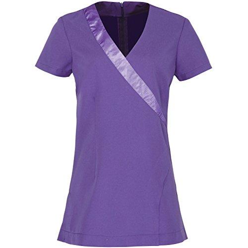 Price comparison product image Premier Womens / Ladies Rose Beauty & Spa Wrap Satin Trim Tunic (8) (Purple)