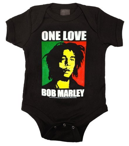 Bob Marley One Love Color Block Baby Romper T-Shirt - Baby T-shirt Romper
