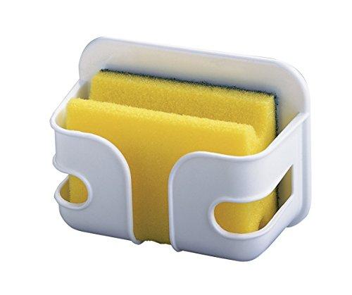 Wenko 2020010100 Schwammbox mit Topfreiniger - Kunststoff, 12 x 9 x 5 cm, weiß