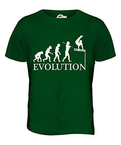 CandyMix Gymnastik Barren Turngerät Evolution Des Menschen Herren T Shirt Flaschengrün