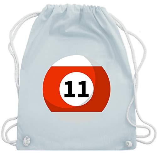 Karneval & Fasching - Billardkugel 11 Kostüm - Unisize - Pastell Blau - WM110 - Turnbeutel & Gym Bag