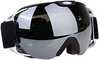 VILISUN Maschera da Sci Snowboard con Lente Ampia Visione 100% Protezione UV400 Anti Nebbia 3 Strati di spugna super comodo, Anti-scivolo Cinghia e Fissaggio degli occhiali da visita