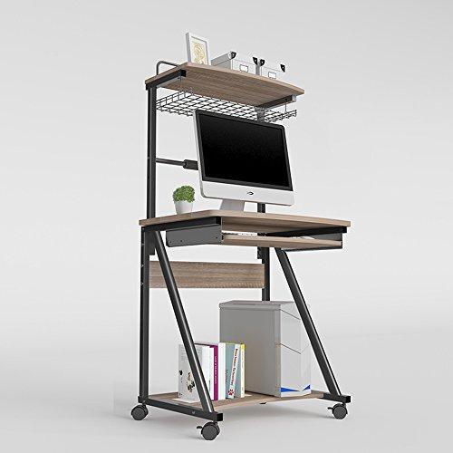 FUFU Wandhalterung Computer Schreibtisch Schreibtisch mit Hutch Modern Style Arbeitsplatz Schreibtisch für Zuhause oder Büro Drop-Blatt-Tabelle (Farbe : B, größe : with Keyboard Support)