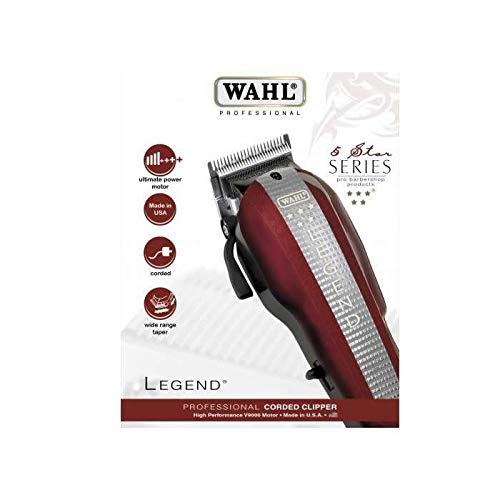 Wahl Legend - Cortapelos, ancho de corte: 40 mm, Rojo