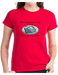 CafePress Happens On The Cruise - Womens Cotton T-Shirt