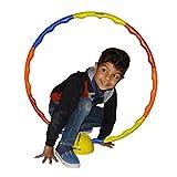 ROXAN HUPPA HULLA RING/HULA HOOP EXERCISE RING / EXERCISE RING COLLAPSIBLE KIDS HUPPA / HULA RING EXERCISE RING FOR AEROBICS ,GYMNASTIC & WEIGHT LOSS