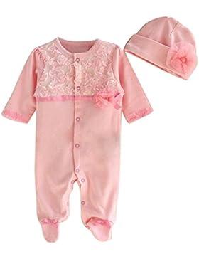 Covermason Neugeborene Baby Mädchen Strampler Romper Overalls Bodysuit + Babymütze Bekleidungssets für Baby 0-...