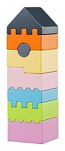 Cubika 11322Juguete, Madera Juguete, Toys, Juguete para Ladrillos, holzbausteine, Después De motricidad, Juguete, Multicolor