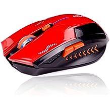 KLIM Azzor Mouse Wireless da Gioco 2400 DPI - Alta Precisione - Click Silenziosi