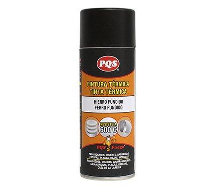 PQS Pqs Pintura termica 600º Hierro Fundido 400 ml 40 ml
