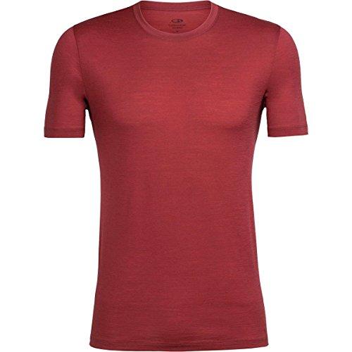 Icebreaker Herren Tech Lite Ss Crewe T-Shirt, Midnight Navy (Marineblau), Einheitsgröße Vintage Red