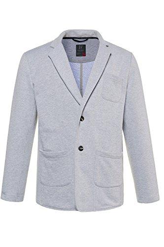 JP 1880 Herren große Größen bis 7XL   Sweatblazer   Blazer aus Jersey-Stoff   Business-Jacke   Jackett   Reverskragen   Hellgrau-Melange 7XL 714234 13-7XL
