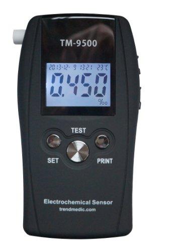 Trendmedic Alkoholtester TM-9500 Professional mobiles Atemalkoholmessgerät mit elektrochemischen Sensor/Professional Fuel-Cell-Sensor | 10 Messwert-Speicherplätze | *POLIZEIGENAU*