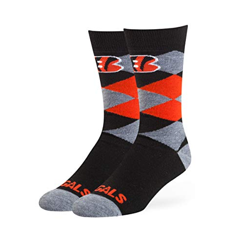 ls Unisex NFL OTS Blaine Dress Sock, Black, Large ()