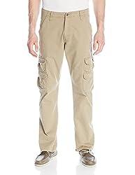 Wrangler Mens Authentics Mens Premium Relaxed Straight Twill Cargo Pant, British Khaki, 36x32