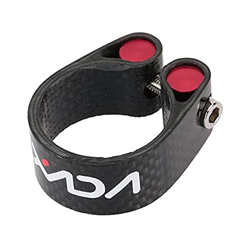 Lixada Carbon Fiber Seat Post Clamp Lightweight 30.2mm 34.9mm Cycling Accessory