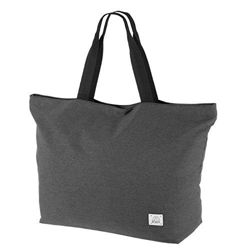 Rada City Shopper SB/7 XXL Einkaufstasche mit Reißverschluss, große Strandtasche/Badetasche, Umhängetasche mit 45l Volumen, robustes und wasserabweisendes Polyester, Alltagstasche (anthra 2tone)