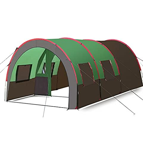Large tunnel tent outdoor camping multiplayer 8-10 person camping tent