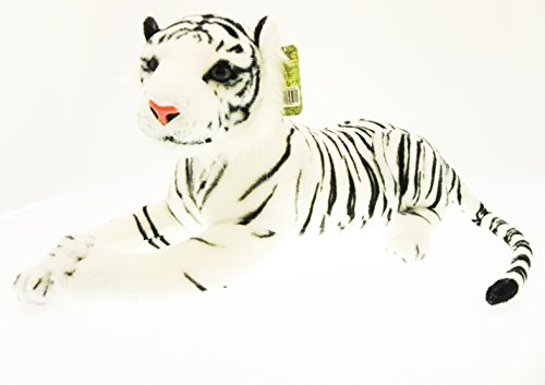Peluche Tigre Bianca Gigante morbido Felino 160 cm Panthera Tigris Nature & Co.