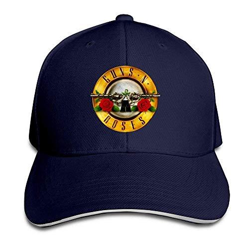 Cap Hat TopSeller Unisex Guns N Roses Logo Adjustable Peaked Baseball Caps Hats Navy