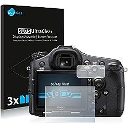 Savvies Film Protection d'écran compatible avec Sony Alpha 77 II (SLT-A77 II) [6 Pièces] - Ultra Clair