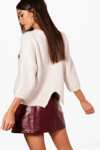 Rose Femmes Amy Embroidered Chenille Jumper Rose