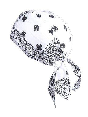 Preisvergleich Produktbild Bandana Cap Kopftuch Muster Weiss Schwarz