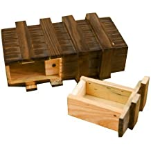 Dcolor Caja magica de madera con cajon secreto seguro adicional
