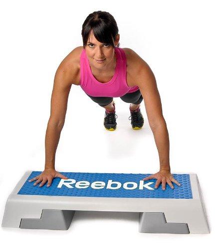 Reebok Step blau weiss Stepper 7.5 kg Steppbrett Step Aerobic Training Fitness - 5