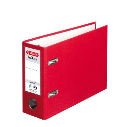 Preisvergleich Produktbild Herlitz 10842342 Ordner maX.file protect A5 quer rot FSC Mixed